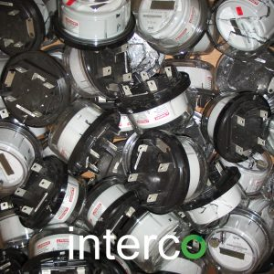Scrap Electric Meters Close Up